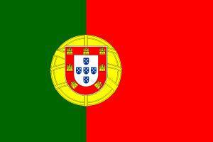 Portugal, portugisisch - Flagge